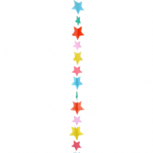 Balloon Tails - Multicolour Stars Balloon Tail (1.2m) 1pc